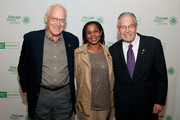 (L-R) Jon Anderson, Pamela Sherrod Anderson and Alan Peterson attend the 2011 Chicago Public Library Foundation and Chicago Public Library gala benefit awards dinner at the University of Illinois at Chicago Forum on October 20, 2011 in Chicago, Illinois.