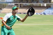 Imran Tahir of South Africa in action during the South African training session, ahead of the ICC World Cup, at MA Chidambaram Stadium on February 10, 2011 in Chennai, India.