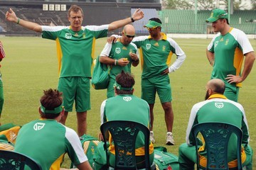 Corrie van Zyl 2011 ICC World Cup - South Africa Training Session
