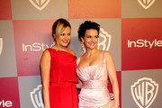 Actors Malin Akerman and Carla Gugino arrive at the 2011 InStyle And Warner Bros. 68th Annual Golden Globe Awards post-party held at The Beverly Hilton hotel on January 16, 2011 in Beverly Hills, California.