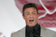 Sylvester Stallone speaks during his induction speech at the 2011 International Boxing Hall of Fame Inductions at the International Boxing Hall of Fame on June 12, 2011 in Canastota, New York. Stallone was a 2011 inductee.