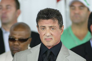 Sylvester Stallone sits on stage  during the 2011 International Boxing Hall of Fame Inductions at the International Boxing Hall of Fame   on June 12, 2011 in Canastota, New York.Stallone was a 2011 inductee.