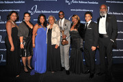 """(EXCLUSIVE COVERAGE) (L-R) Meta Robinson, Susan Thomas, Sonya Pankey, Jackie Robinson Foundation Founder Rachel Robinson, ROBIE Achievement in Industry Award recipient Sean """"Diddy"""" Combs, Janice Combs, Justin Combs and David Robinson attend the 2011 Jackie Robinson Foundation Awards Gala atThe Waldorf=Astoria on March 7, 2011 in New York City."""