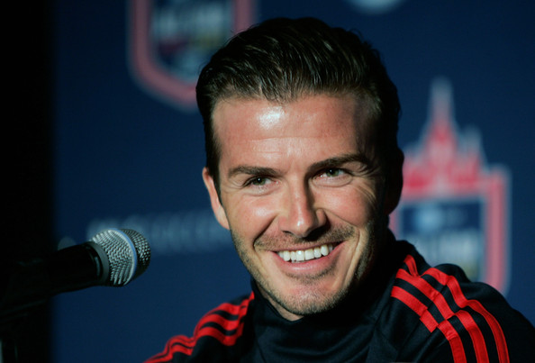 David Beckham of the Los Angeles Galaxy speaks at the 2011 MLS All-Star Game press conference at All-Star HUB on July 25, 2011 in New York City. The MLS All-Star game will be played on Wednesday July 27, 2011 at Red Bulls Arena in Harrison, New Jersey.