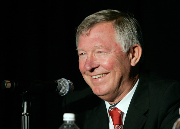 Manchester United Head Coach Sir Alex Ferguson speaks at the 2011 MLS All-Star Game press conference at All-Star HUB on July 25, 2011 in New York City. The MLS All-Star game will be played on Wednesday July 27, 2011 at Red Bulls Arena in Harrison, New Jersey.