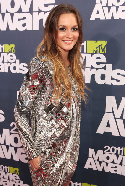 Actress Leighton Meester arrives at the 2011 MTV Movie Awards at Universal Studios' Gibson Amphitheatre on June 5, 2011 in Universal City, California.
