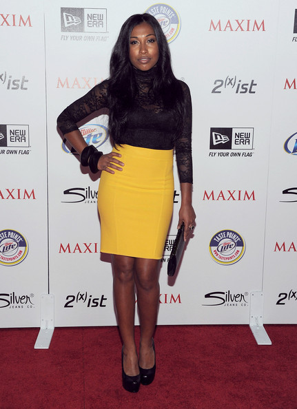 Musician Melanie Fiona arrives at Maxim's Hot 100 Party at Eden on May 11, 2011 in Hollywood, California.