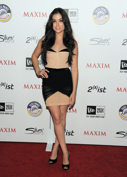 Actress Sasha Grey arrives at Maxim's Hot 100 Party at Eden on May 11, 2011 in Hollywood, California.