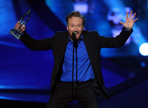 TV personality Conan O'Brien accepts the Favorite Talk Show Host award onstage during the 2011 People's Choice Awards at Nokia Theatre L.A. Live on January 5, 2011 in Los Angeles, California.
