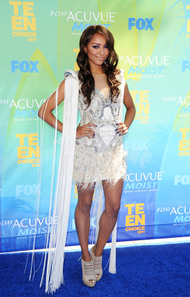 Singer Kat Graham arrives at the 2011 Teen Choice Awards held at the Gibson Amphitheatre on August 7, 2011 in Universal City, California.