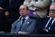 Prince Edward, Duke of Kent watches the women's final match between Maria Sharapova of Russia and Victoria Azarenka of Belarus during day thirteen of the 2012 Australian Open at Melbourne Park on January 28, 2012 in Melbourne, Australia.