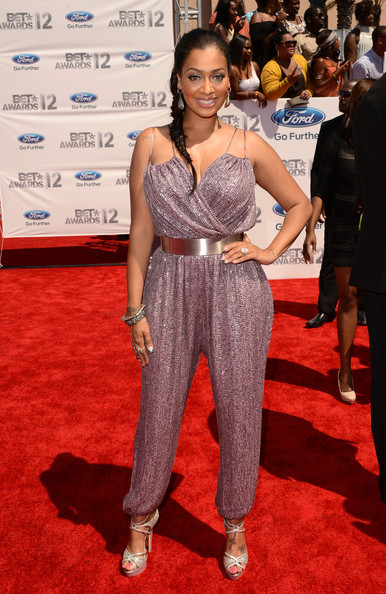 TV Personality Lala Anthony arrives at the 2012 BET Awards at The Shrine Auditorium on July 1, 2012 in Los Angeles, California.