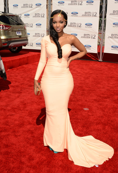 Rapper LoLa Monroe arrives at the 2012 BET Awards at The Shrine Auditorium on July 1, 2012 in Los Angeles, California.