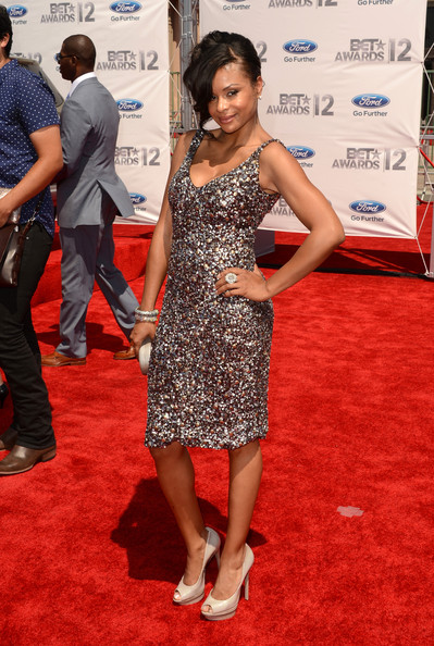 Actress Joyful Drake arrives at the 2012 BET Awards at The Shrine Auditorium on July 1, 2012 in Los Angeles, California.