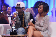 Rapper Soulja Boy (L) and guest attend the post show during the 2012 BET Awards at The Shrine Auditorium on July 1, 2012 in Los Angeles, California.