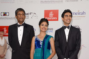 """Actors Adil Hussain, Shravanthi Sainath and Suraj Sharma attend the """"Life of PI"""" Opening Gala during day one of the 9th Annual Dubai International Film Festival held at the Madinat Jumeriah Complex on December 9, 2012 in Dubai, United Arab Emirates."""