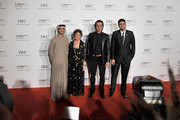 Nominee directors Abdulla Al Kaabi, Maysoon Pachachi, Ali F Mostafa and Mohammed Rashed BuAli attend the Dubai International Film Festival and IWC Schaffhausen Filmmaker Award Gala Dinner and Ceremony at the One and Only Mirage Hotel on December 10, 2012 in Dubai, United Arab Emirates.
