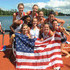 Emily Walsh Photos - Cox Kendall Schmidt, Kristine O'Brien, Madison Culp, Heidi Robbins, Christine Holm, Gabrielle Cole, Teylor Goestzinger, Amanda Elmore and Emily Walsh of USA celebrate their victory in the Women's Eight Final during Day 5 of the 2012 FISA World Rowing U23 Championships on July 15, 2012 in Trakai, Lithuania. - 2012 FISA World Rowing U23 Championships - Day Five
