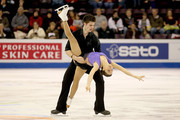 Jessica Dube and Sebastien Wolfe of Canada compete in the Pairs Free Skate during the ISU Four Continents Figure Skating Championships at World Arena on February 12, 2012 in Colorado Springs, Colorado.