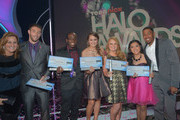 (L-R) Nickelodeon and MTV Networks' Kids & Family Group President Cyma Zarghami, 2012 HALO Award Honorees Matt Ferguson, Raymone George, Allyson Ahlstrom, Taylor Waters, Kylie Lan Tumiatti and TeenNick Chairman and HALO Awards host Nick Cannon attend Nickelodeon's 2012 TeenNick HALO Awards at Hollywood Palladium on November 17, 2012 in Hollywood, California. The show premieres on Monday, November 19th, 8:00p.m. (ET) on Nick at Nite.