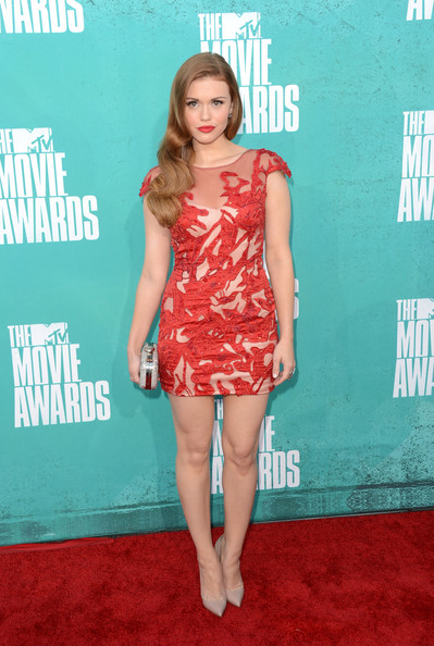 Actress Holland Roden arrives at the 2012 MTV Movie Awards held at Gibson Amphitheatre on June 3, 2012 in Universal City, California.
