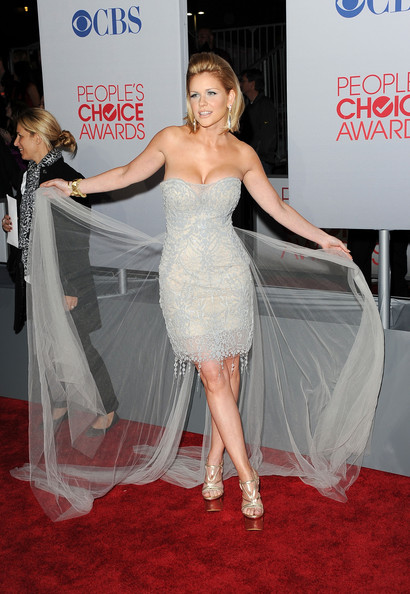TV personality Carrie Keagan arrives at the 2012 People's Choice Awards held at Nokia Theatre L.A. Live on January 11, 2012 in Los Angeles, California.