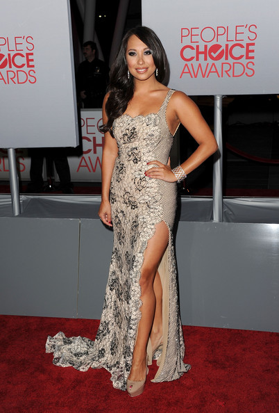 TV personality Cheryl Burke arrives at the 2012 People's Choice Awards held at Nokia Theatre L.A. Live on January 11, 2012 in Los Angeles, California.