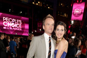 Actors Neil Patrick Harris and Cobie Smulders arrive at the 2012 People's Choice Awards at Nokia Theatre L.A. Live on January 11, 2012 in Los Angeles, California.