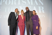 (L-R) Jay-Z, Beyonce, 2012 Sportsman of the Year LeBron James and Savannah Brinson attend the 2012 Sports Illustrated Sportsman of the Year award presentation at Espace on December 5, 2012 in New York City.