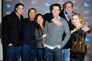 David Permut , Brian Dannelly, Allie Grant, and the cast of 'Struck By Lightning'arrives to the 2010 American Express Tribeca Film Festival LA Reception  at The Beverly Hilton Hotel on March 19, 2012 in Beverly Hills, California.