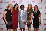 (L-R) Kathy Payne, VP, Content Acquisition, Cox Communications, Jennifer Hightower, Senior Vice President of Law and Policy for Cox Communications and 2012 Woman to Watch award winner,  FCC Commissioner Mignon Clyburn, WE tv's Jennifer Robertson, Senior Vice President, Digital Media & Business Development and 2012 Woman to Watch award winner annd  Maria E. Brennan, President and CEO of Women in Cable Telecommunications, pose for a photo at the 2012 WICT Touchstones Luncheon at Hilton New York on September 10, 2012 in New York City.