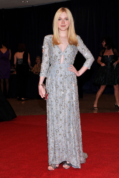 Actress Dakota Fanning attends the 98th Annual White House Correspondents' Association Dinner at the Washington Hilton on April 28, 2012 in Washington, DC.