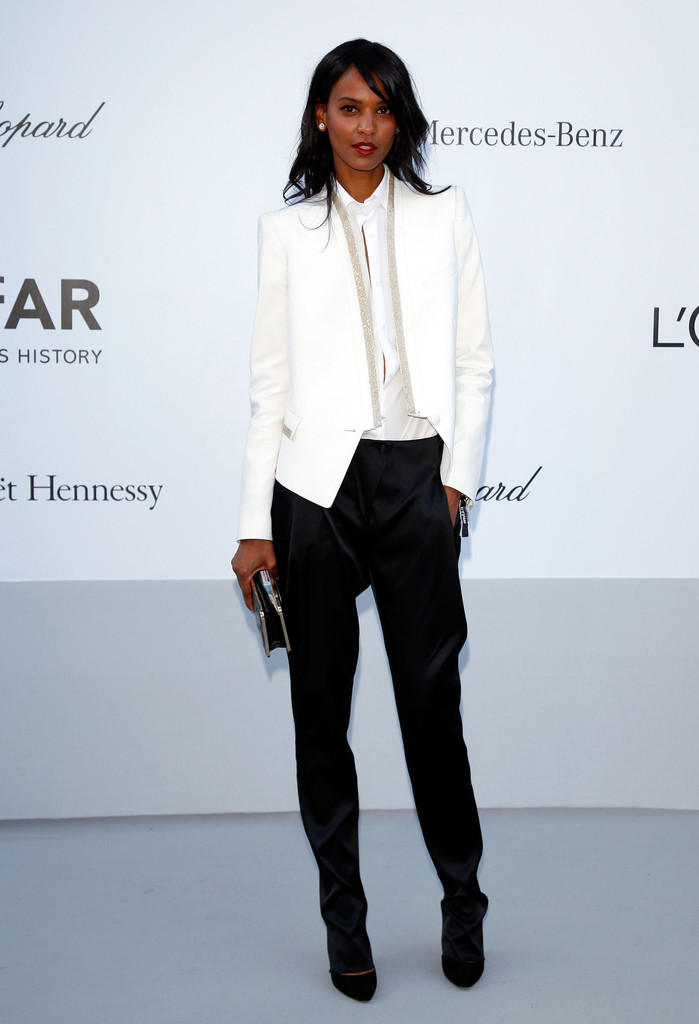 Model Liya Kebede arrives at the 2012 amfAR's Cinema Against AIDS during the 65th Annual Cannes Film Festival at Hotel Du Cap on May 24, 2012 in Cap D'Antibes, France.