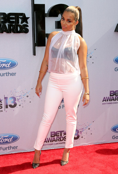 Actress Lauren London attends the 2013 BET Awards at Nokia Theatre L.A. Live on June 30, 2013 in Los Angeles, California.
