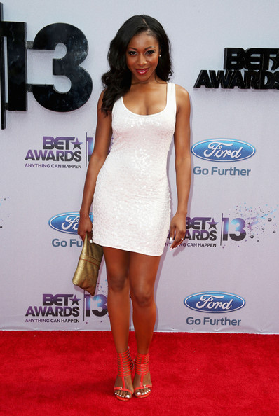 Actress Gabrielle Dennis attends the 2013 BET Awards at Nokia Theatre L.A. Live on June 30, 2013 in Los Angeles, California.