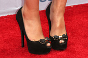 Actress Cymphonique Miller (shoe detail) attends the 2013 BET Awards at Nokia Theatre L.A. Live on June 30, 2013 in Los Angeles, California.