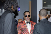 (L-R) Recording Artist Snoop Dogg, Charlie Wilson and Pharrell Williams in the Backstage Winner's Room at Nokia Theatre L.A. Live on June 30, 2013 in Los Angeles, California.