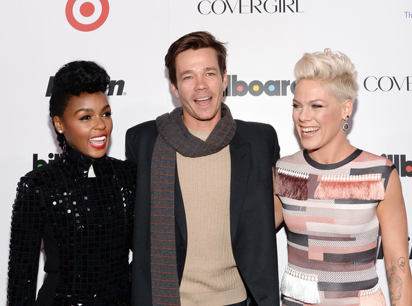 (L-R) Musicians Janelle Monae, Nate Ruess of fun., and P!nk attend Billboard's annual Women in Music event at Capitale on December 10, 2013 in New York City.