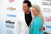 Singer Wayne Newton and Kathleen McCrone arrives at the 2013 Billboard Music Awards at the MGM Grand Garden Arena on May 19, 2013 in Las Vegas, Nevada.