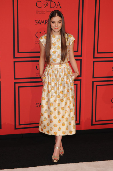 Actress Hailee Steinfeld attends the 2013 CFDA Fashion Awards on June 3, 2013 in New York, United States.