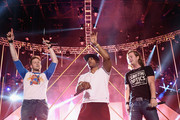 Nelly (C) performs onstage with Brian Kelley (L) and Tyler Hubbard of Florida Georgia Line during the 2013 CMT Music Awards Rehearsals Day 1 at Bridgestone Arena on June 3, 2013 in Nashville, Tennessee.