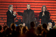 (L-R) Recording Academy President/CEO Neil Portnow, honoree Miguel Bose and Chairman of the Latin Recording Academy Luis Cobos speak onstage during the 2013 Latin Recording Academy Person Of The Year honoring Miguel Bose at the Mandalay Bay Events Center on November 20, 2013 in Las Vegas, Nevada.