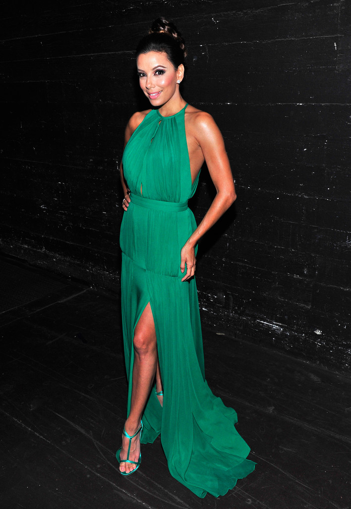Host Eva Longoria poses backstage during the 2013 NCLR ALMA Awards at Pasadena Civic Auditorium on September 27, 2013 in Pasadena, California.