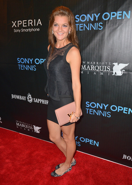 Agnieszka Radwanska arrives at Sony Open Player Party 2013 at JW Marriott Marquis on March 19, 2013 in Miami, Florida.