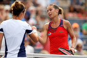 Flavia Pennetta Simona Halep Photos Photo