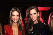Models Alessandra Ambrosio (L) and Izabel Goulart attend the 2013 Victoria's Secret Fashion after party at TAO Downtown on November 13, 2013 in New York City.