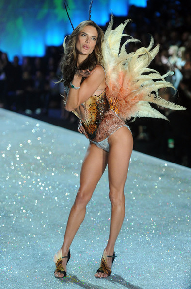 Model Alessandra Ambrosio walks the runway at the 2013 Victoria's Secret Fashion Show at Lexington Avenue Armory on November 13, 2013 in New York City.