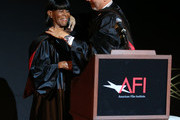 Actress Cicely Tyson (L) and producer/director Jon Avnet speak during the 2014 AFI Conservatory Commencement Ceremony at the TCL Chinese Theatre on June 11, 2014 in Hollywood, California.