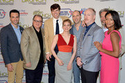 (L-R) Actors Reid Scott, Kevin Dunn, Timothy Simons, Anna Chlumsky, Tony Hale, Matt Walsh, Gary Cole and Sufe Bradshaw attend the 2014 Annual Garden Brunch at the Beall-Washington House on May 3, 2014 in Washington, DC.