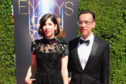 Actors Carrie Brownstein (L) and Fred Armisen attend the 2014 Creative Arts Emmy Awards at Nokia Theatre L.A. Live on August 16, 2014 in Los Angeles, California.